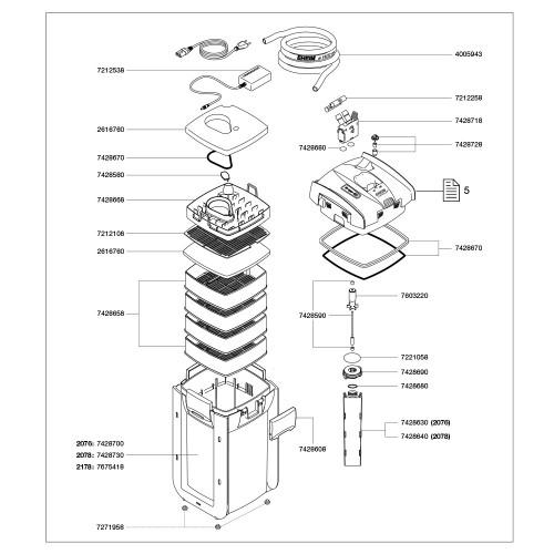 Eheim AEH7428670 Seal Ring Can 2076//2078 for Aquarium Water Pump